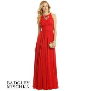 Badgley Mischka Ruby Red Gala Gown 0 Sleeveless